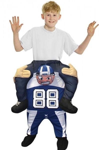 Andy American Football-piggyback-kostuum voor kinderen
