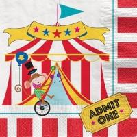 16 Zirkus Festival Servietten 33cm