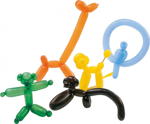Set of 10 modeling balloons with air pump