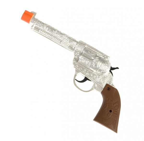 Verzierte Western Pistole In Silber 1