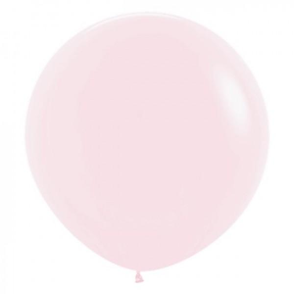 3 ballons XL rose clair 61cm