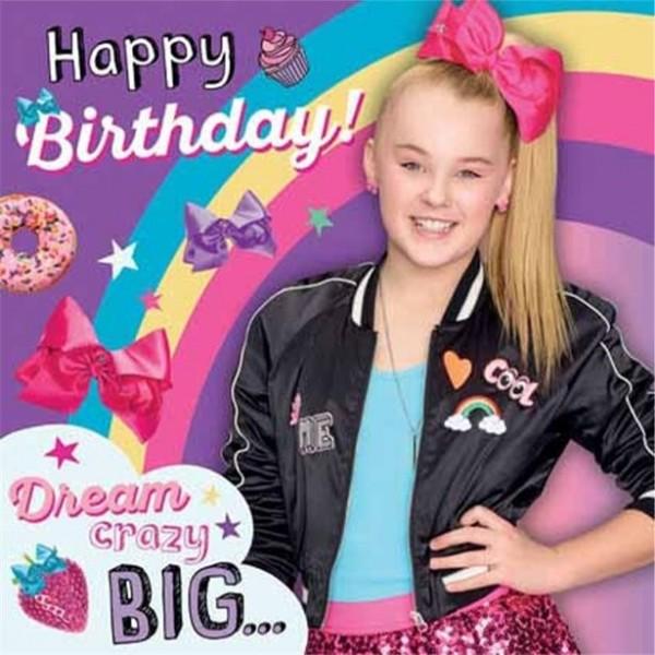 Jojo Siwa Geburtstagskarte 16cm