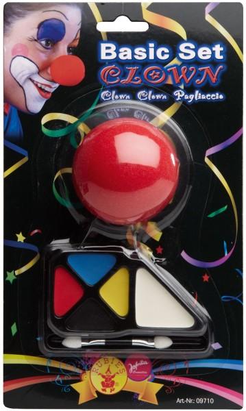 Buntes Clowns Schminke Mit Nase