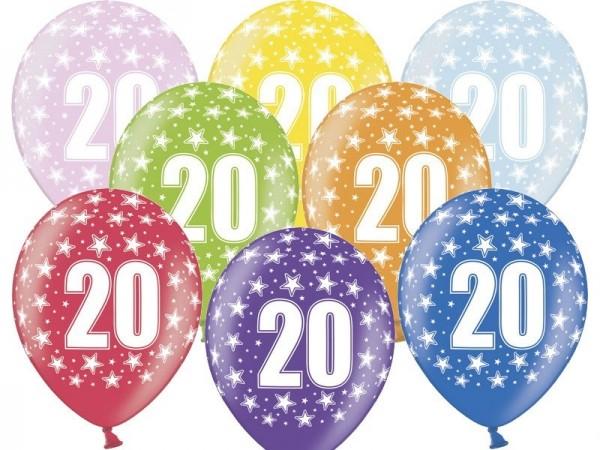 50 Wild 20th Birthday Luftballons 30cm