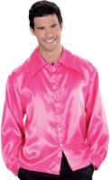 70er Jahre Hemd Pink für Herren