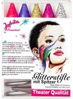 5 Glitter Schminkstifte Mit Anspitzer