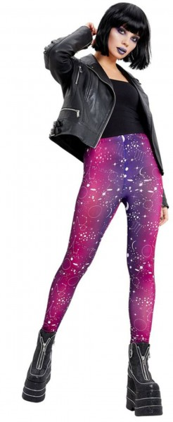 Space Print Leggings für Damen