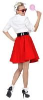 50er Jahre Rock für Damen rot