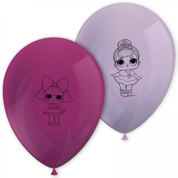 8 LOL Glamour Girls Luftballons 30cm