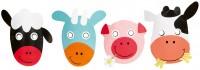 Liebenwerte Bauernhof Tiere Masken 8 Stück