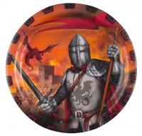 8 Ritter der Tafelrunde Papptelller 23cm