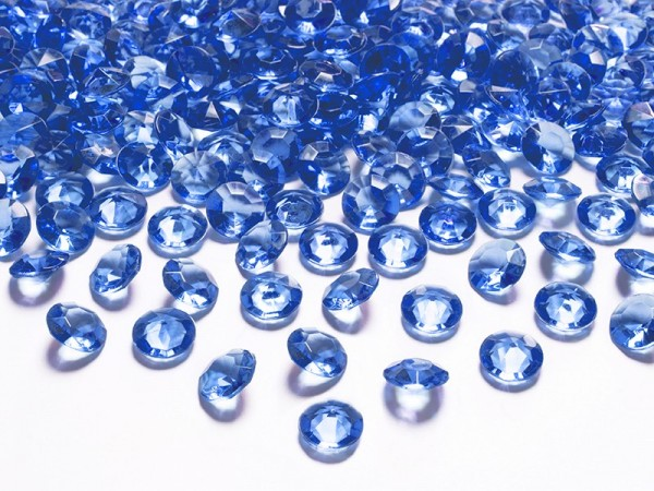 100 diamanti blu elettrico 12mm