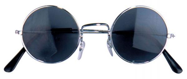 Runde Hippiebrille in Schwarz