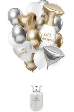 Lad os fejre heliumflaske med balloner