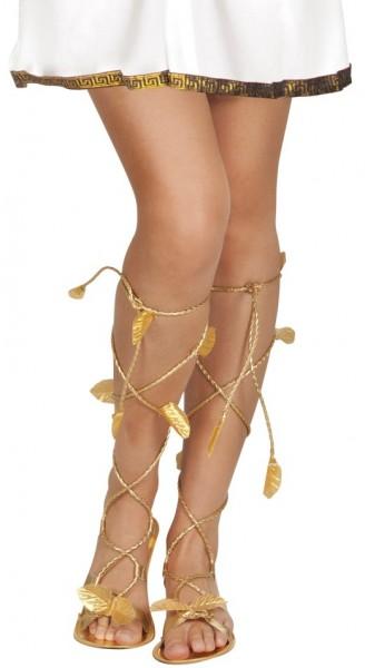 Antieke sandalen met laurierblad