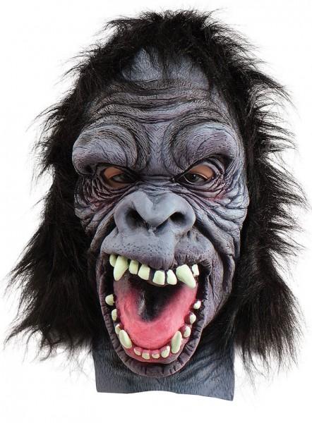 Gorilla Horrorbiest masker met bont