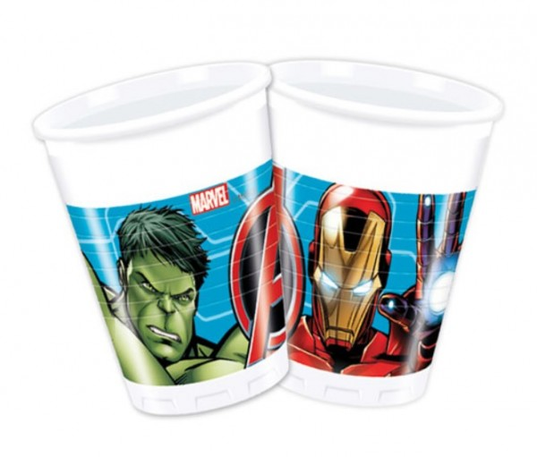 8 The Avengers Marvel Heroes Plastic Cup 200ml