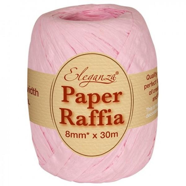 Gift ribbon made of raffia pink 30m