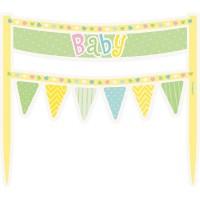 Baby Charlie Tortendeko Banner Pastell