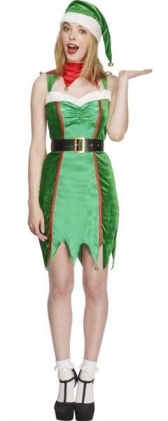 Disfraz de duende navideño sexy para mujer