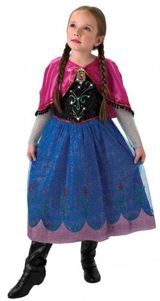 Sprankelend Anna Frozen-kostuum voor kinderen