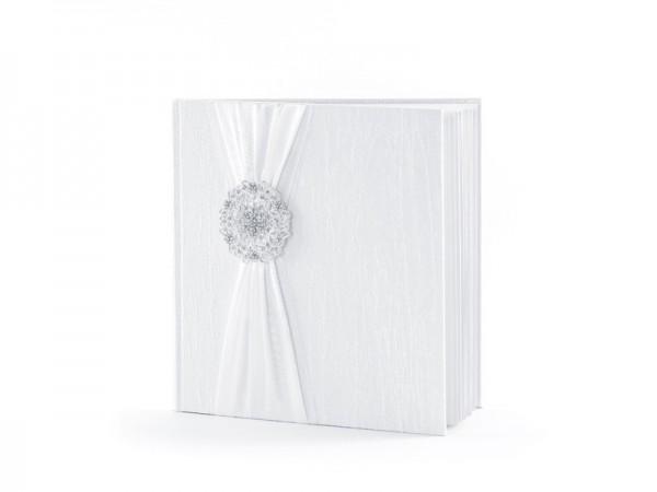 Gästebuch mit Verzierung Weiß 22 Seiten 1