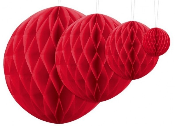 Honeycomb ball Lumina red 10cm
