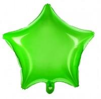 Transparenter Sternballon grün 48cm