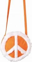 Orangene Hippie Peace Tasche
