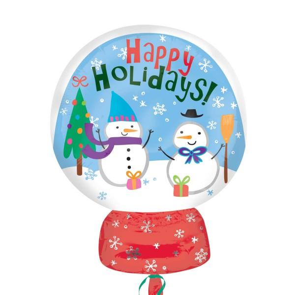 Ballon aluminium Happy Holidays 38 x 50cm