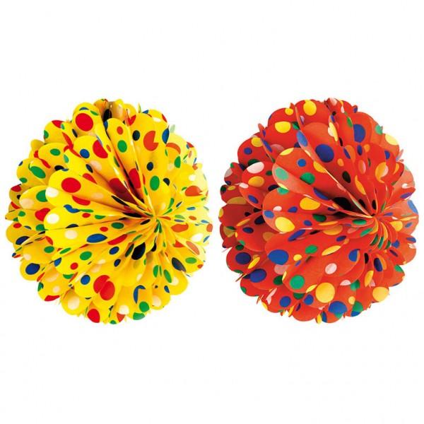 Round confetti honeycomb ball 28cm