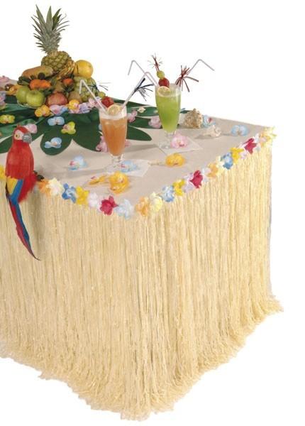 Falda de mesa hawaiana de colores 2.75mx 75cm