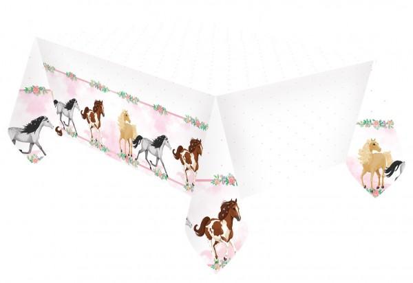 Pferde Tischdecke Fleur 1,8 x 1,2m