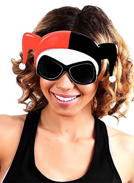 Harley Quinn Brille Mit Halbmaske