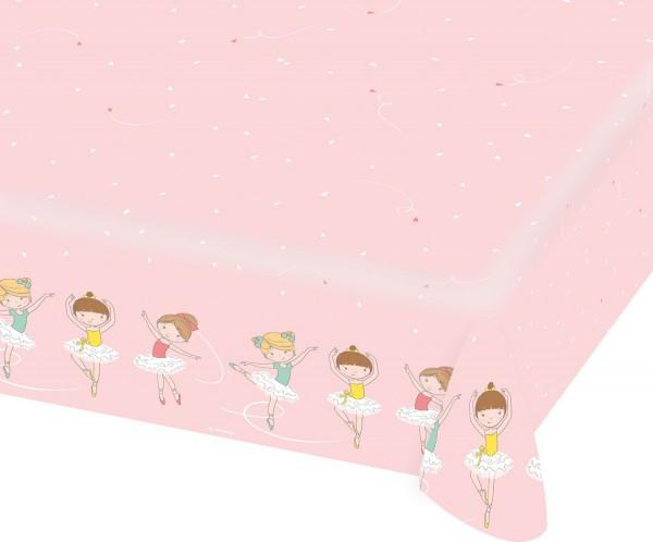 Kleine Ballerina Papier Tischdecke 1,75 x 1,15m