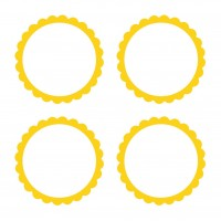 20 self-adhesive labels with yellow flower border