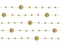 5 Perlengirlanden Sissi altgold 1,3m