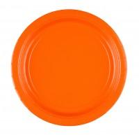 8 Party Pappteller Oranje 22,8cm