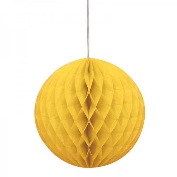 Happy Yellow Honeycomb Ball 20cm
