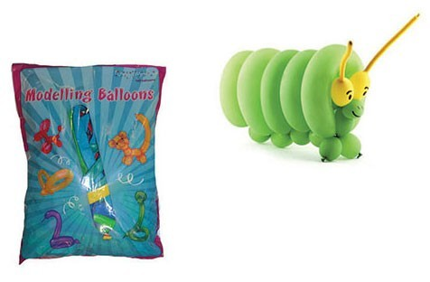 100 Modellierballons 1,4m x 7,5cm