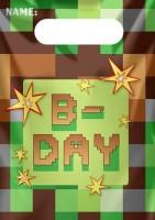 8 TNT Pixel Party Geschenktüten