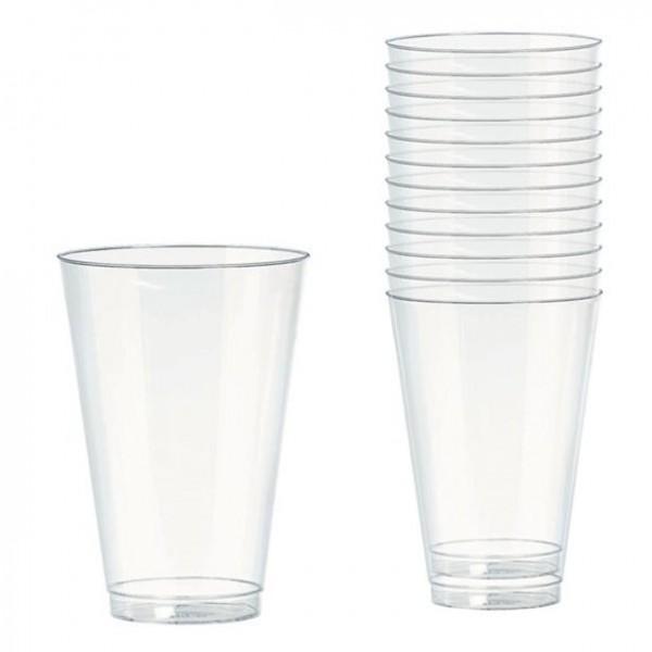 20 przezroczystych plastikowych szklanek 295ml