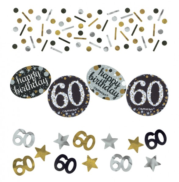 Golden 60th Birthday sprinkle decoration 34g