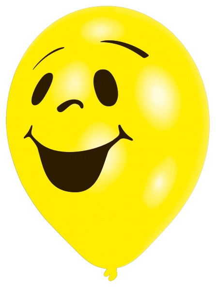 10er Set Lachender Smiley Luftballon Partyde