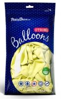 Vorschau: 10 Partystar Luftballons pastellgelb 30cm