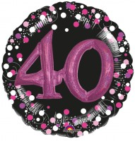 Pink 40th Birthday Folienballon 91cm