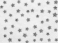 20 Servietten schwarze Sterne 33 x 33 cm