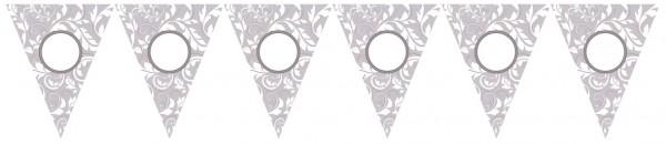 Catena pennant floreale argento 7,9m