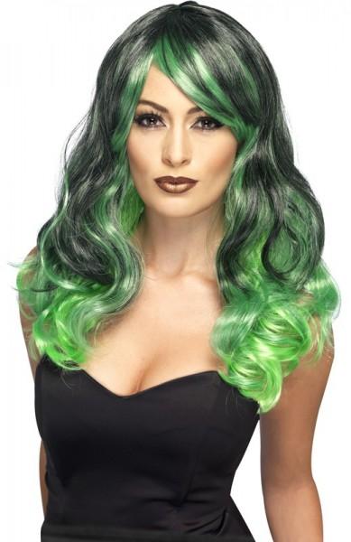 Sirens long hair wig green