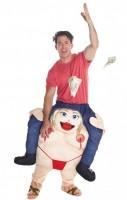 Huckepack Stripperin Kostüm